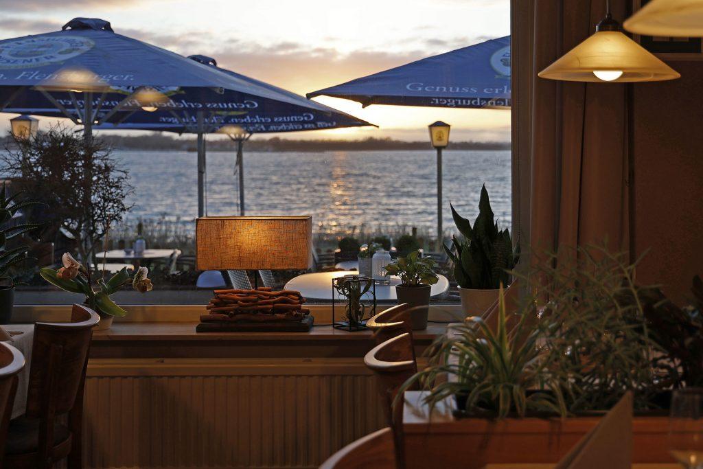 Sonnenuntergang, Ostseeblick, Restaurant,